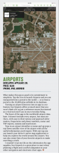 Airports featured in Flying June 2015
